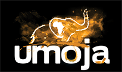 Umoja logo – elephant represents the creative power of nature